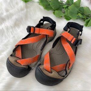 Keen Women's Zerraport Strappy Orange Sandals 8.5